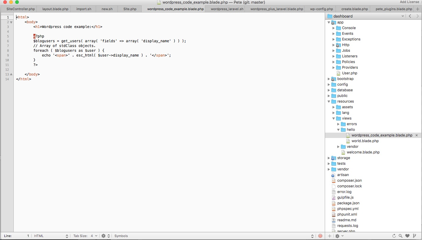 Create a WordPress Laravel Integration with WordPressPete